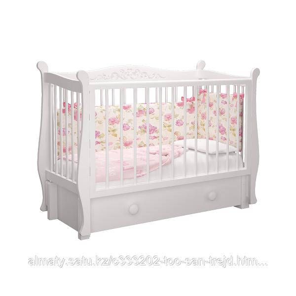 Детская кровать Джулия  Пу ,(белый)