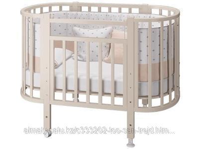 Детская кровать-трансформер Элен 2 с маятником (  слоновая кость,белый)