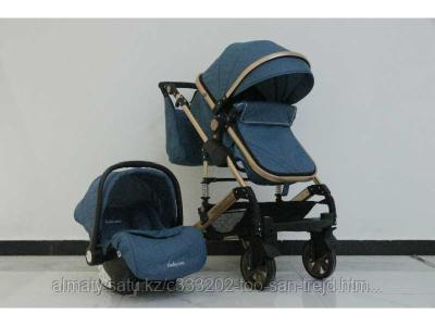 Детская коляска - трансформер Belecoo 3 в 1+ автолюлька(синий)