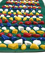 Массажный коврик с камнями, 100 * 40 см, зеленый