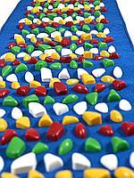 Массажный коврик с камнями, 200 * 40 см, синий