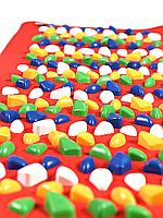 Массажный коврик с камнями, 150 * 40 см, красный