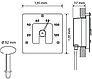 Гигрометр SQ для русской бани Cariitti (Нерж. сталь, требуется 1 оптоволокно D=2-4 мм), фото 8