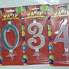 Свечи цифры Пати Золото ,Серебро,Розовые    Большие      0-9
