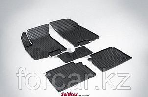"""Коврики в салон """"Seintex"""" с узором сетка для Chevrolet Captiva/Opel Antara 2006-2012гг. (резина, черный)"""