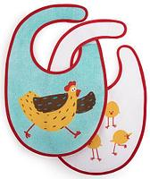 Набор нагрудников Happy Baby Set Terry Bibs Chiken 2 шт, фото 1