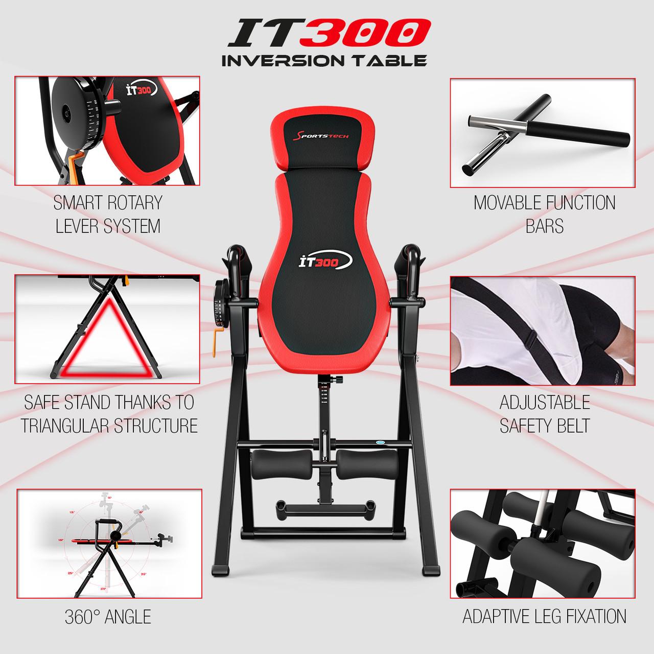 Инверсионный стол 4 в 1 IT300 (Турник+брусья+отжимание)