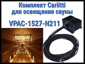 Комплект освещения финской сауны Cariitti VPAC-1527-N211 для установки в потолке (Стекловолокно, 10+1 точка)