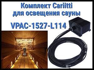 Комплект освещения финской сауны Cariitti VPAC-1527-L114 для установки в потолке (Стекловолокно, 10+1 точка)