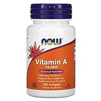 Now Foods, Витамин A, 10 000 МЕ, 100 мягких таблеток (iherb)