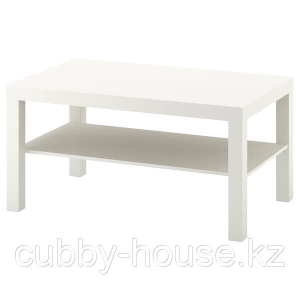 LACK ЛАКК Журнальный стол, белый (дубовый, чёрно-коричневый) 90x55 см