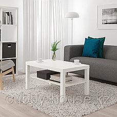 LACK ЛАКК Журнальный стол, белый (дубовый, чёрно-коричневый) 90x55 см, фото 3