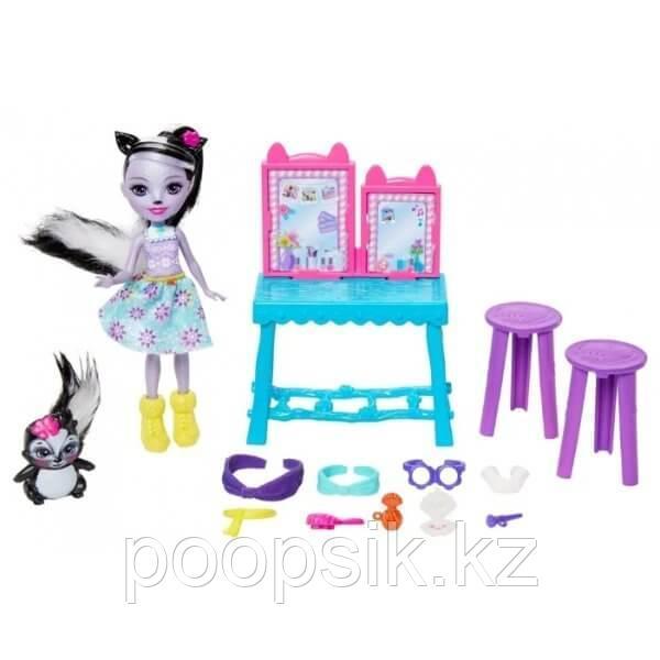 Энчантималс Седж Скунси c куклой и туалетным столиком - фото 3