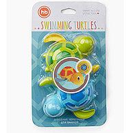 Игрушка для ванной Swimming Turtles Blue and Green 6мес+ (Happy Baby, Великобритания)