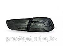 Задние фонари Mitsubishi Lancer Audi style Black Color 2008 -2019