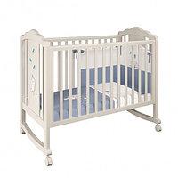 Детская кроватка Polini Classic 621 Зайки бежевый-синий