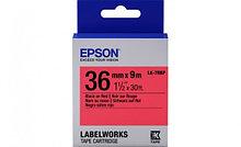 Epson C53S628401 Лента маркировочная LK7RBP Pastel Blk/Red 36/9