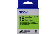 Epson C53S655005 Лента маркировочная LK5GBF Fluor Blk/Green 18/9