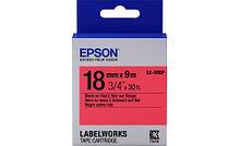 Epson C53S655002 Лента маркировочная LK5RBP Pastel Blk/Red 18/9