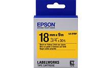 Epson C53S655003 Лента маркировочная LK5YBP Pastel Blk/Yell 18/9