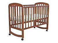 Детская кроватка Фея 304 колесо-качалка орех