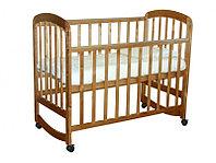 Детская кроватка Фея 304 колесо-качалка медовый