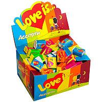 Жевательная резинка Love is микс вкусов коробка 100шт