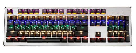 Клавиатура игровая Oklick 970G Dark Knight механическая черный USB for gamer LED