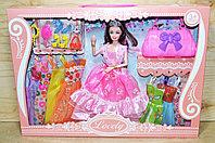 1035 Кукла с короной  Lovely (руки сгибаются) 8 платьев и аксесс. 45*33см