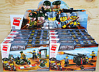 1701-1704 Военный конструктор Битва Combat Zones 4 вида, 8 шт,цена за 1шт 22*14см
