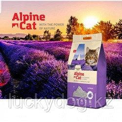 Alpine cat,комкующийся наполнитель с ароматом лаванды,5 л. 4 кг