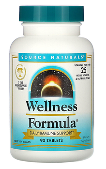 Source Naturals, Wellness Formula, 90 таблеток