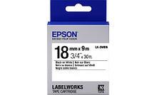 Epson C53S655006 Лента пастельная LK5WBN Std Blk/Wht 18/9