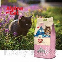 Alpine cat,комкующийся наполнитель с ароматом сакуры,10 л. 8 кг