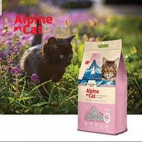 Alpine cat,комкующийся наполнитель с ароматом сакуры,15 л. 12 кг