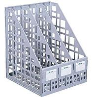 Лоток вертикальный СТАММ, 3 отделения, серый