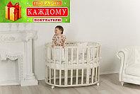 Детская кроватка Incanto Северная Звезда 9 в 1 с маятником слоновая кость, фото 1