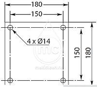 Поворотная консоль Z образная (Пантограф) для автомойки. 1550 мм., фото 2