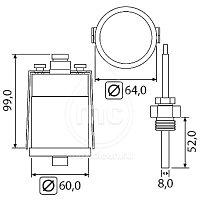 Термометр с удаленным контактом, фото 2
