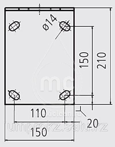 Потолочная консоль 1600мм для воздушной системы LU-D.1 для потолочного монтажа