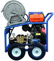 Каналопромывочный аппарат MC 160/38 BENZ (160 bar) электростартер, фото 2