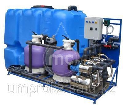 Система очистки воды АРОС-10 ДК (с дозатором хим. реагента и картриджным фильтром)