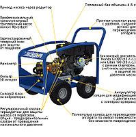 Водоструйный аппарат Посейдон В15-350-15 (ВНА-Б-350-15) с бензоприводом 350 бар, 15 л/мин, фото 2