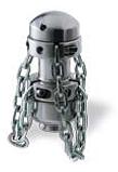 Роторная цепная насадка со сменными наконечниками для труб Ø1000 мм