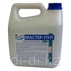 Мастер-Пул 3л КАНИСТРА., безхлорное жидкое ср-во 4 в 1 обеззараж. и чистки воды