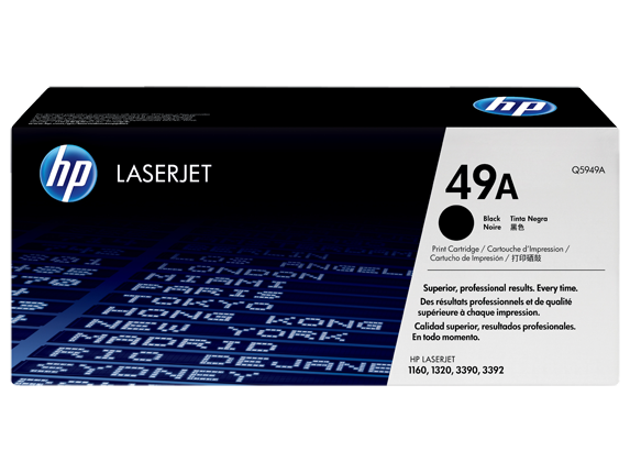 HP Q5949A Картридж лазерный HP 49A, Черный 2500 страниц (5% заполнение) для HP LJ 1320 Series, LJ1160, 3390aio