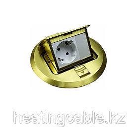 Лючок напольный на 3 модуля, матовое золото HTD-7L