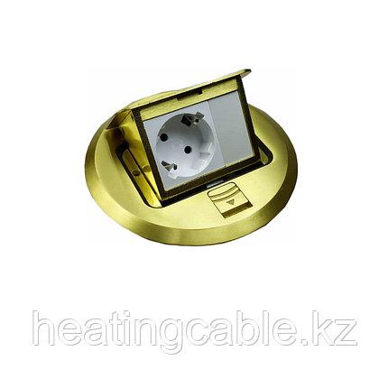Лючок напольный на 3 модуля, матовое золото HTD-7L, фото 2