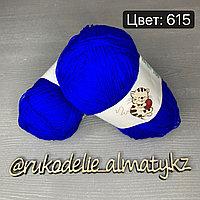 Акриловая пряжа для новорожденных Bebe 100 синий