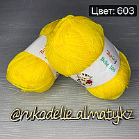 Акриловая пряжа для новорожденных Bebe 100 желтый